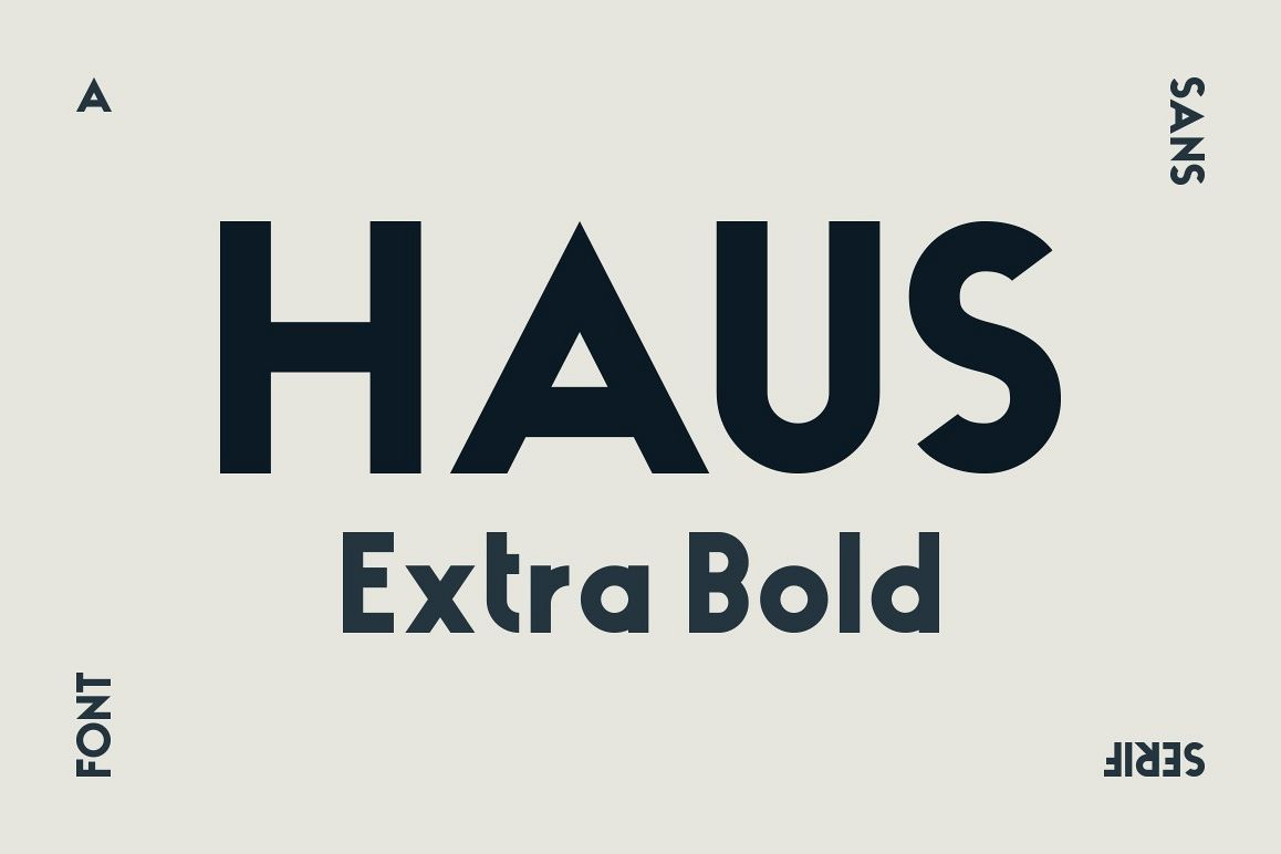 HAUS Sans Extra Bold example image