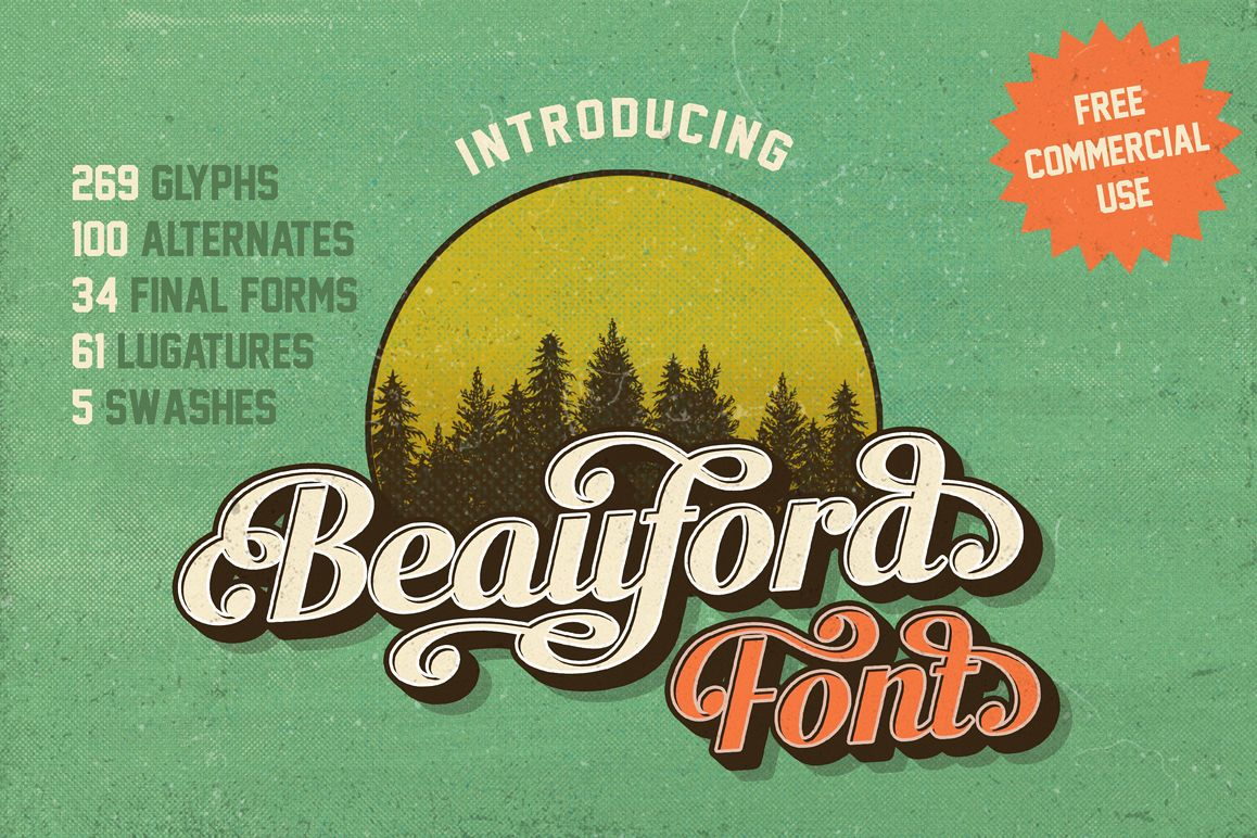 Beauford Font  example image