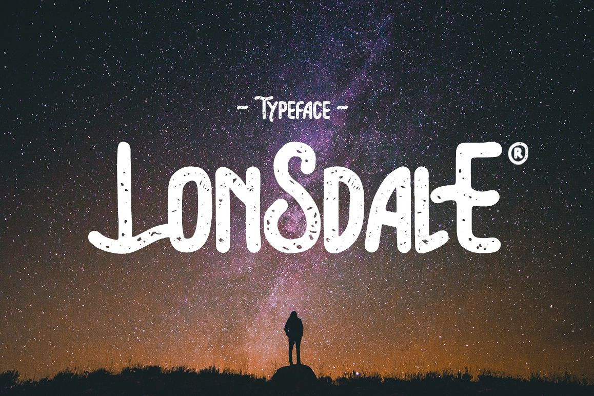 Lonsdale Typeface example image