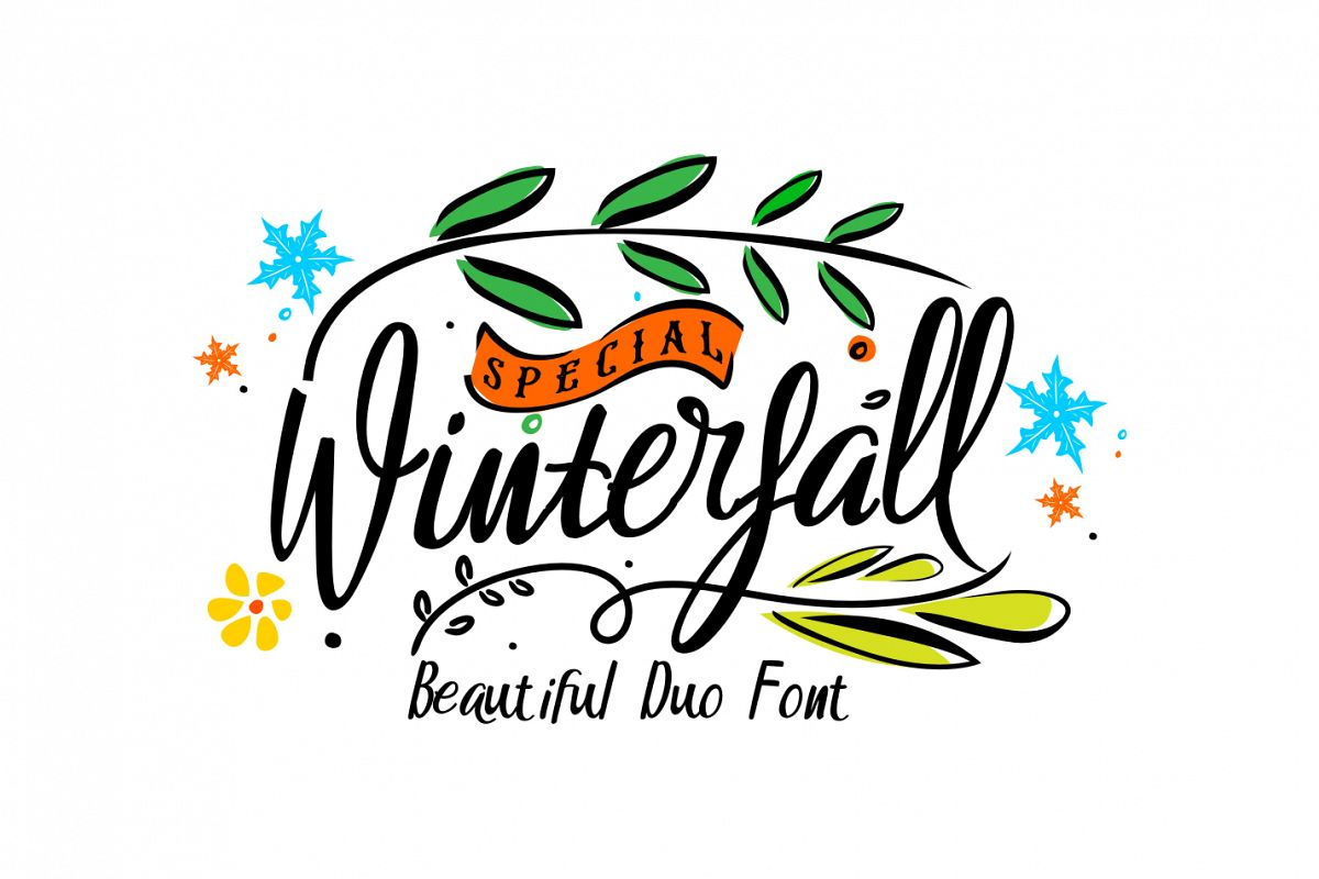 Winterfall Duo Font example image
