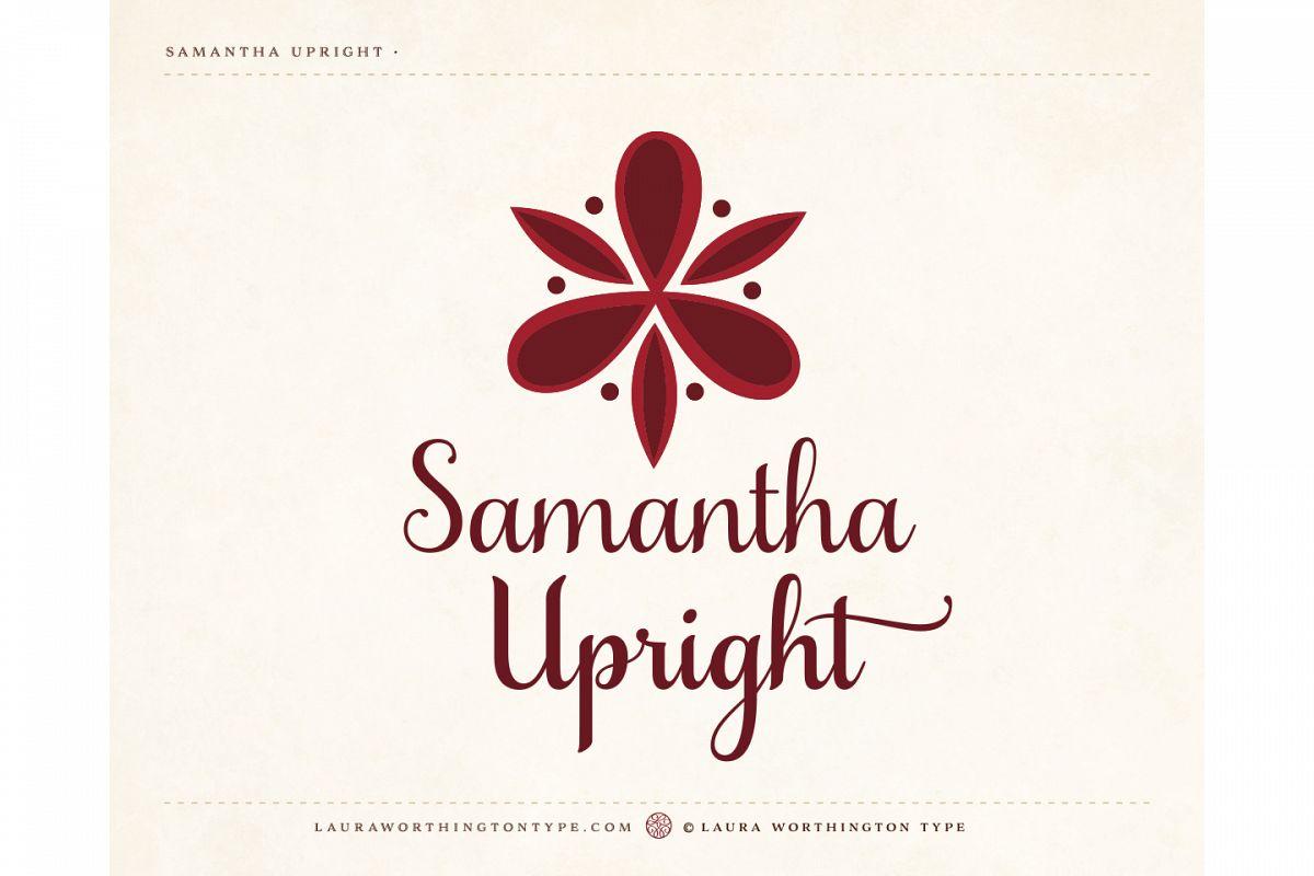 Samantha Script Upright example image 9