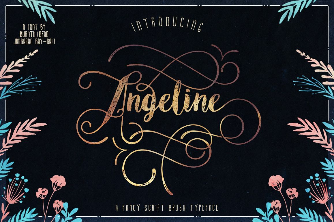 Angeline Font + SWASHES example image