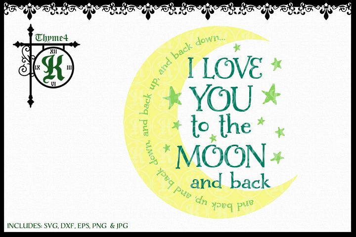 Love you to the Moon Digital Design