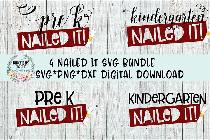 Kindergarten - Pre K Nailed It Bundle SVG*PNG*DXF Digital Download
