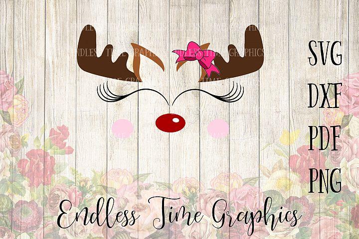 Reindeer SVG. Reindeer Cut File. SVG Cut File. Cute Christmas Reindeer SVG. Christmas Svg. Reindeer Face Svg. Christmas Clipart