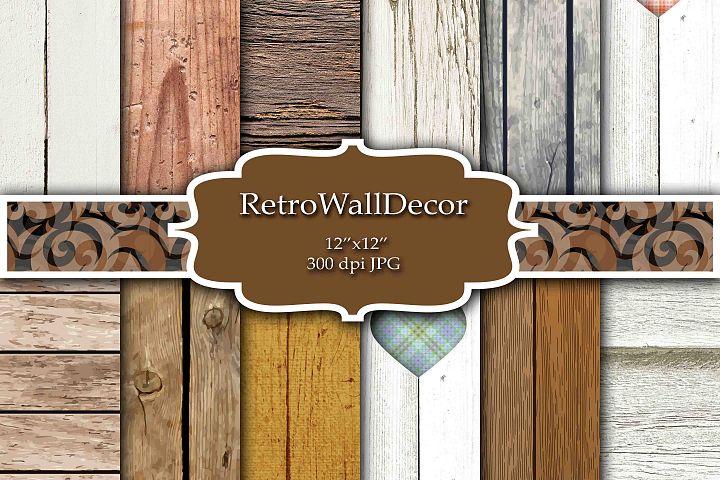 Rustic Wood Digital Paper Set