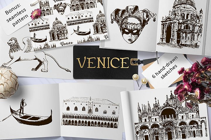Set of Venice sketches