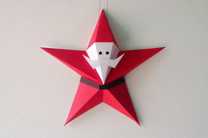 DIY Star Santa Claus - 3d papercraft