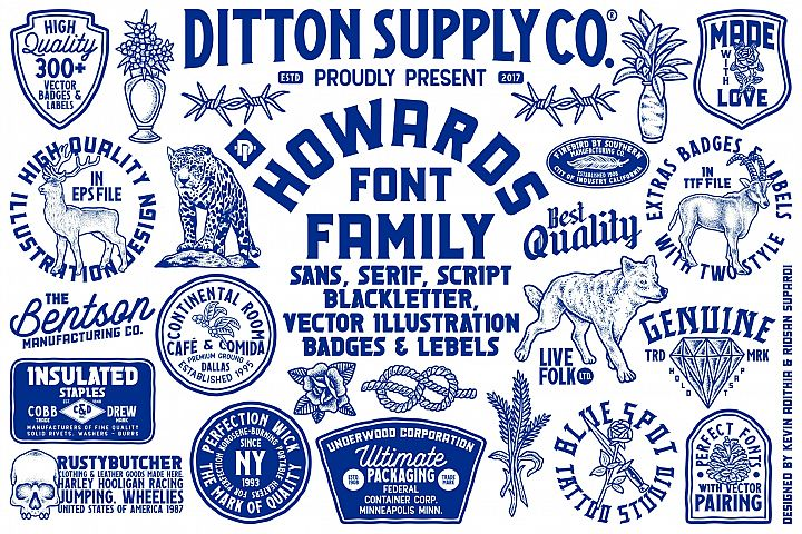Howards Font Family With 300+ Vector Collections