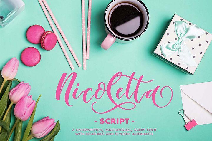 Nicoletta Script - A Handwritten, Multilingual Script Font
