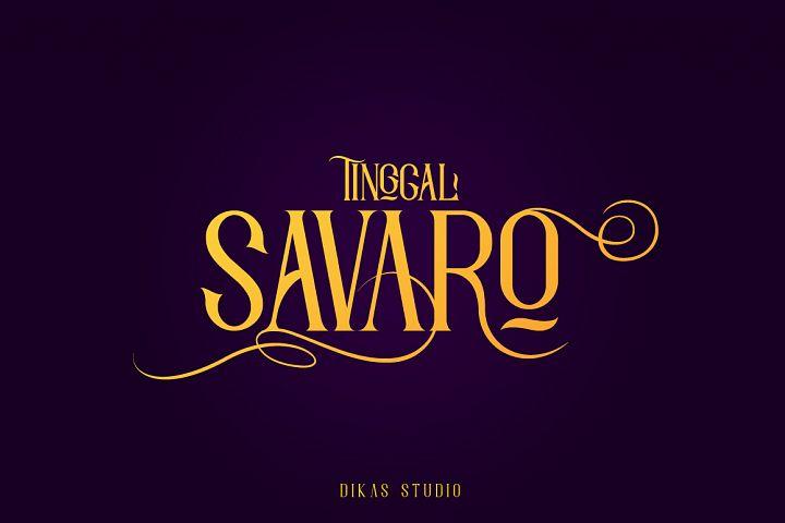 Savaro Typeface