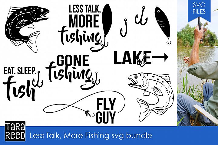 Less Talk More Fishing svg bundle