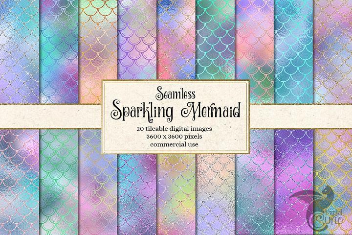 Sparkling Mermaid Digital Paper