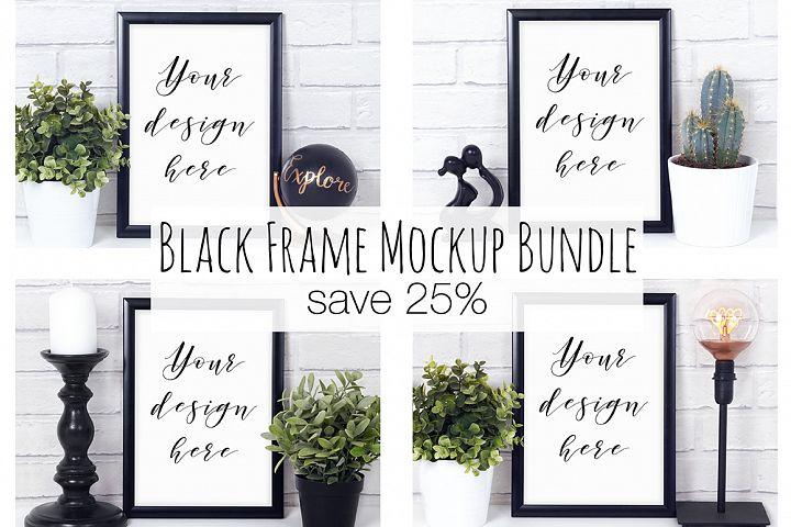 Black Frame Mockup Photography Bundle