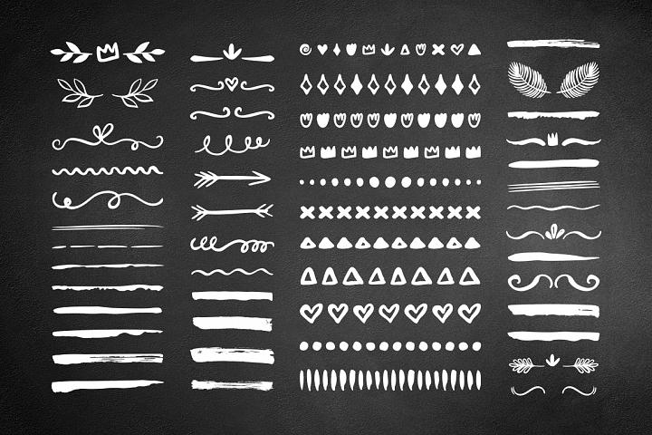 50 Hand drawn borders dividers set