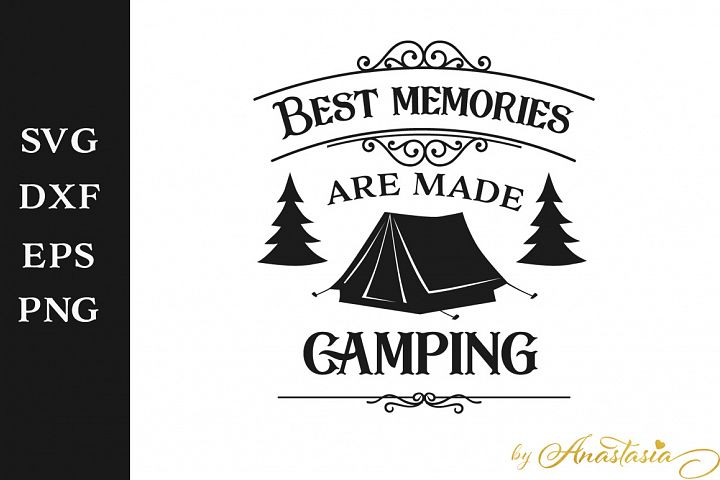 Best memories are made camping SVG Cutting File
