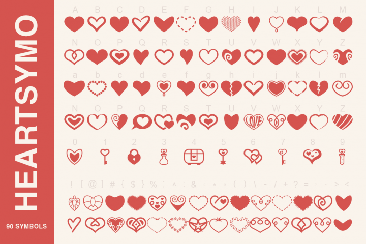 Symbols Font Collection - 450 Elements - Free Font of The Week Design 3