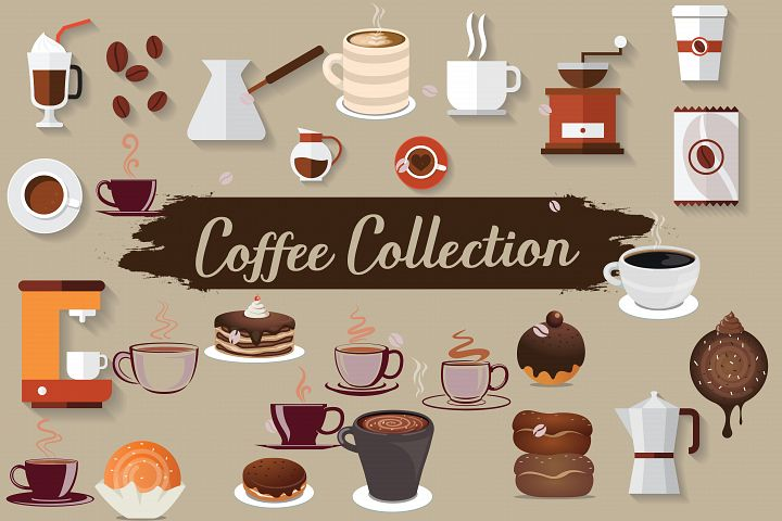 coffe collection,coffee,coffee elements,coffee illustrations,coffee clipart,cup,coffee cup