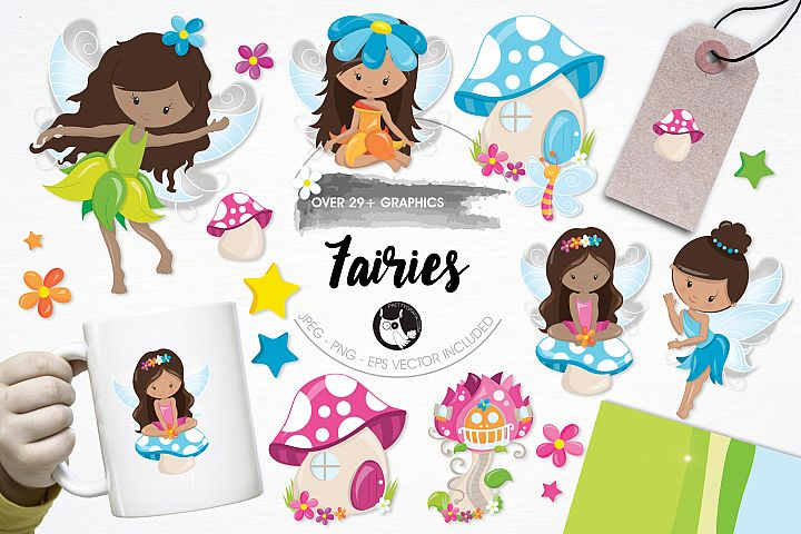 Fairies graphics and illustrations
