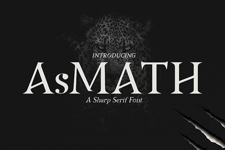 AsMATH A Sharp Serif Font