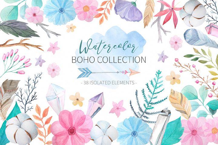 Watercolor Boho Collection