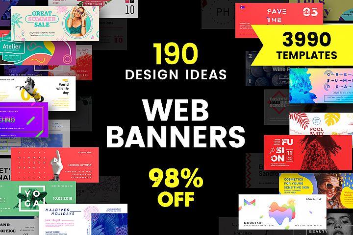 Web Banner Design Templates Bundle SALE