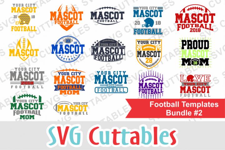 Football Bundle #2, svg cut files