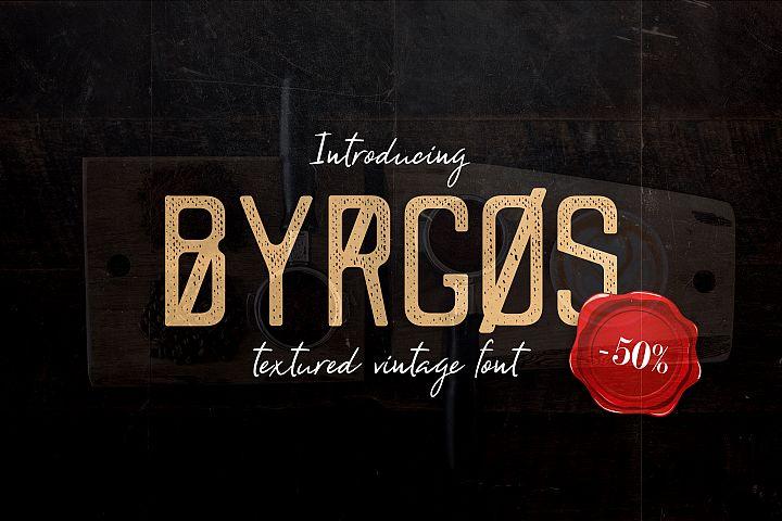 Byrgos Font