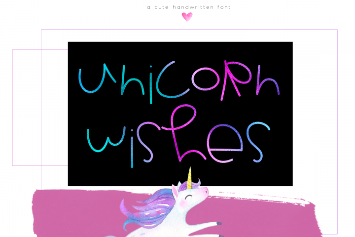 Unicorn Wishes - Quirky Handwritten Font