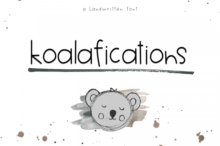 Koalifications - A Cute Handwritten Font