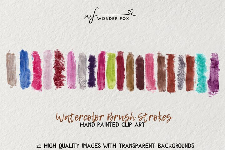 Glamour Watercolor brush strokes