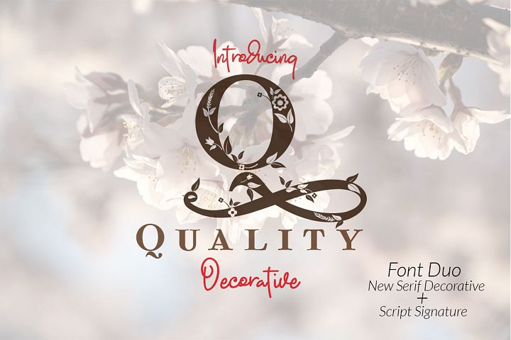 Quality Decorative Font Duo