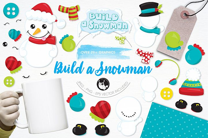 Build a Snowman graphics and illustrations