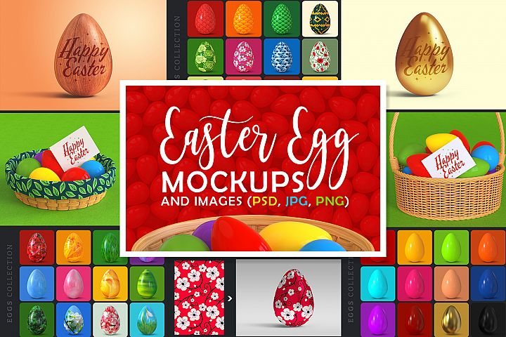 Easter Egg Mockups and Images