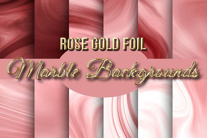 Rose Gold Foil Marble Backgrounds