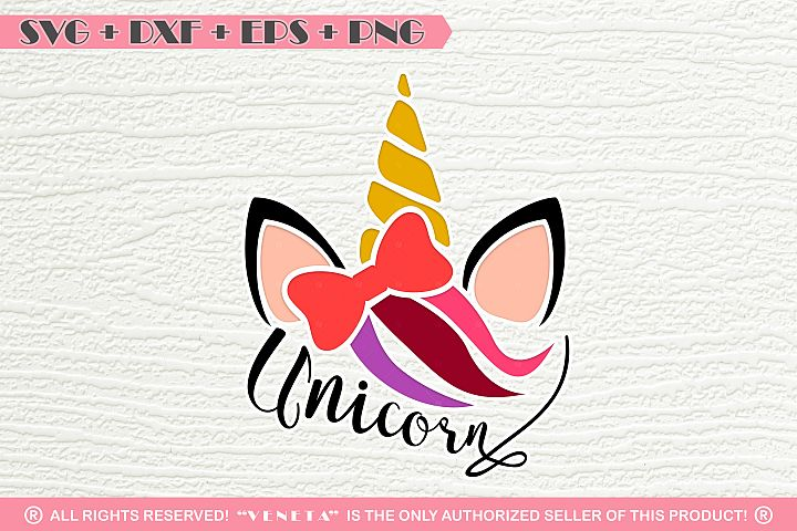 Unicorn | Horn |Letters | Bow | SVG DXF EPS |Cutting File