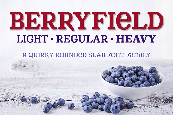 Berryfield - a quirky slab serif font family!