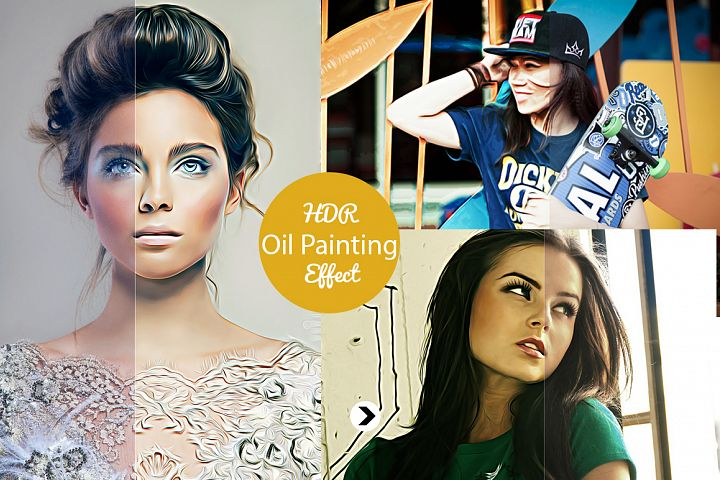 Realistic Pro Oil Painting Effects - Photoshop Action V.2