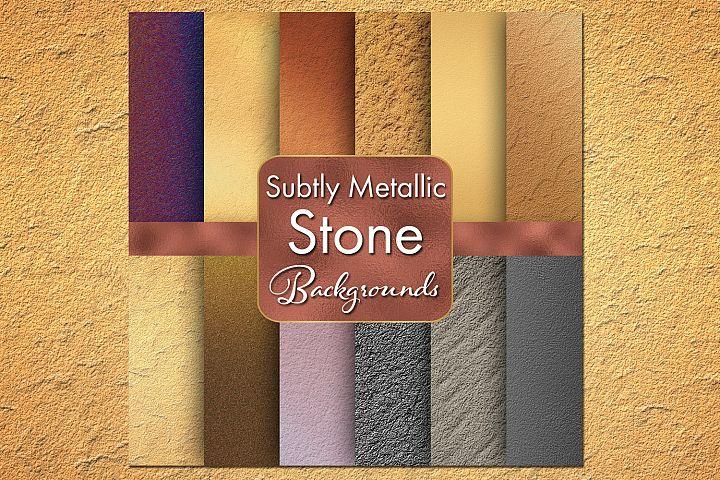 Subtly Metallic Stone Backgrounds