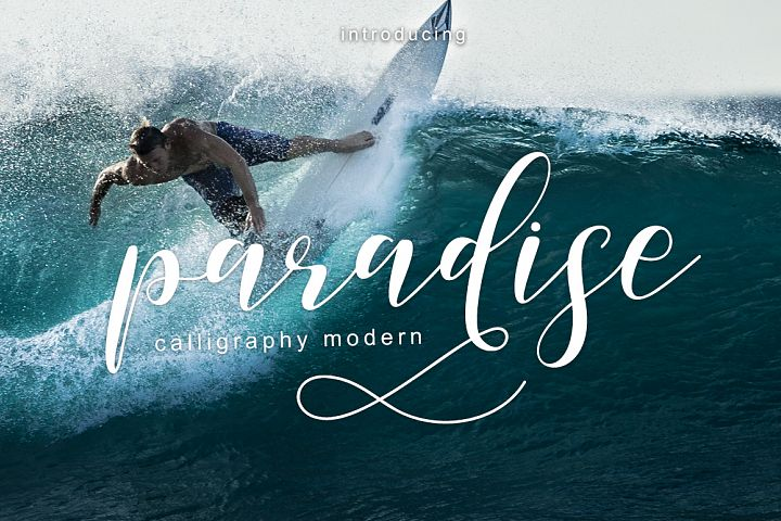 paradise calligraphy modern