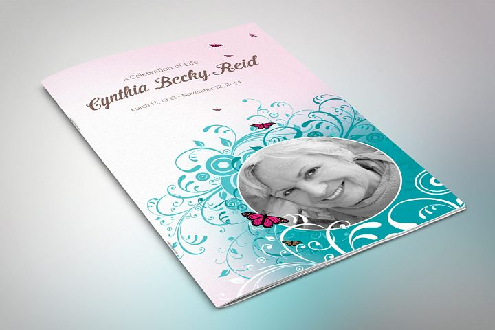 Flourish Funeral Program Template