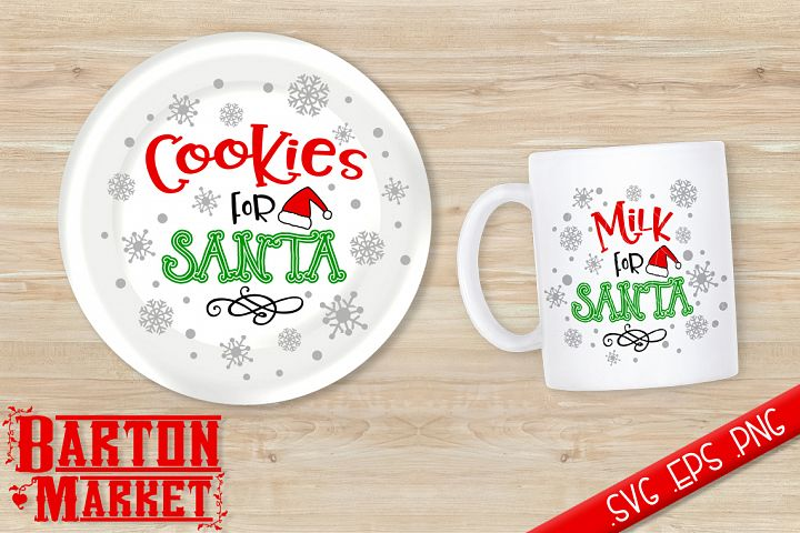 Cookies & Milk For Santa SVG / EPS / PNG