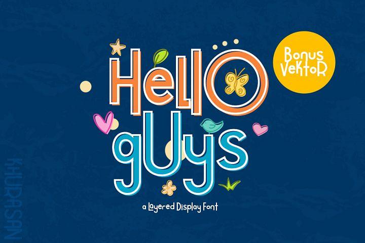 Hello Guys Layered Font