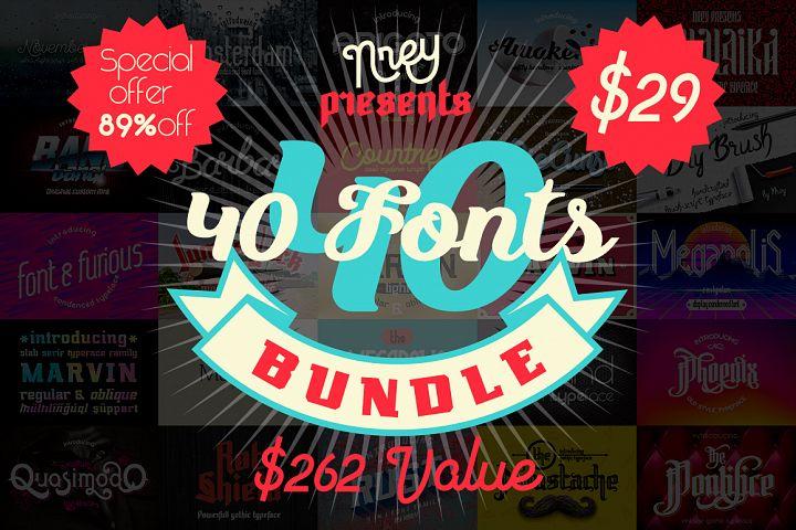 40 fonts bundle