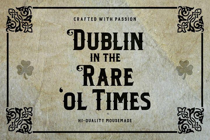 Dublin - Free Font of The Week Design 3