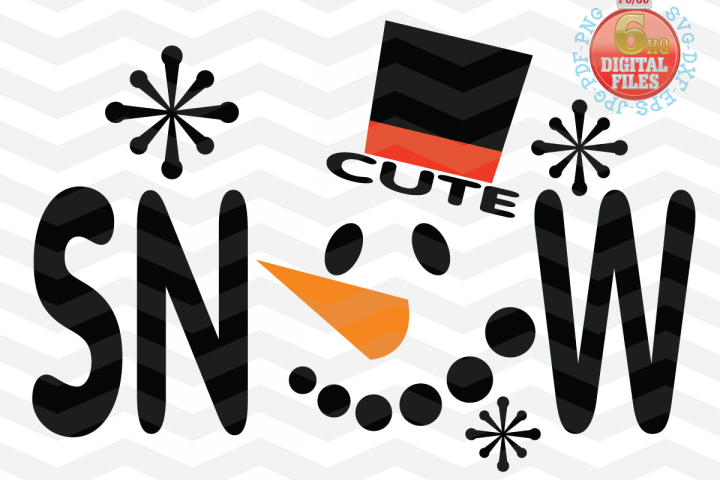 Snowman face svg - Snow Cute SVG - Christmas SVG - Snow SVG - Xmas svg - Cutting File - Cute svg - Christmas SVG - Svg - Dxf- Eps - Png -Jpg - Pdf