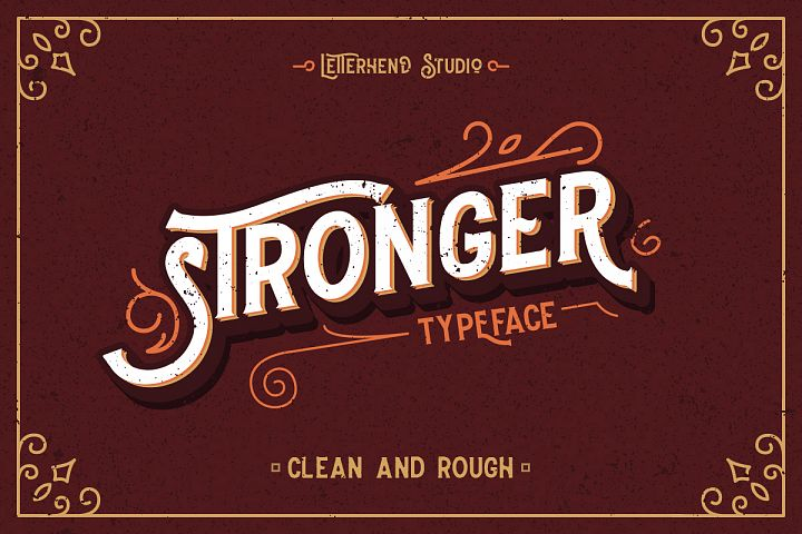 Stronger typeface