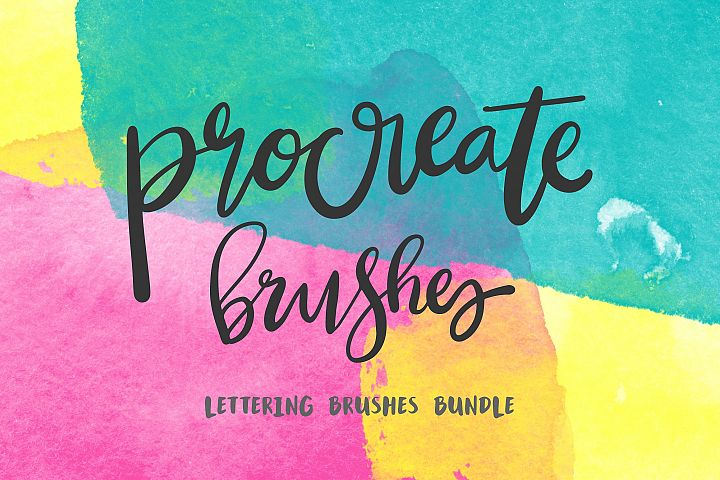 Procreate Lettering 22+ Brush Bundle