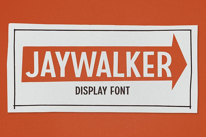 Jaywalker - Display Font