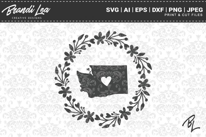 Washington State Map SVG Cutting Files